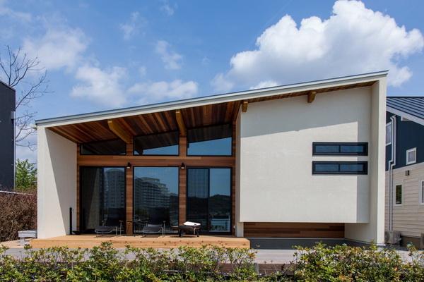 Лаконичный дом с односкатной крышей