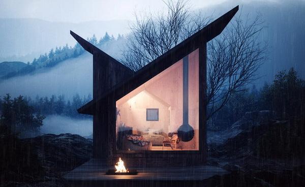 Асимметричная односкатная крыша