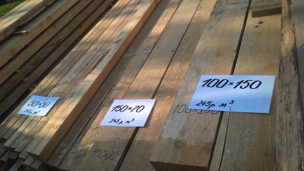 Размеры досок на крышу