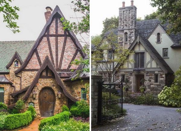 Красивые фронтоны частных домов как из сказки