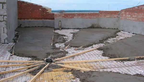 Разуклонка из цементно-песчаной стяжки