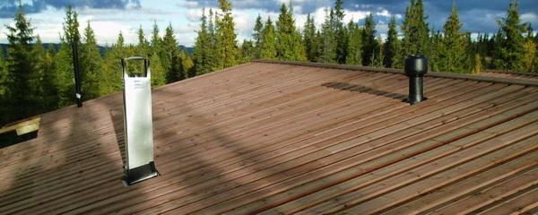 Крыша из досок