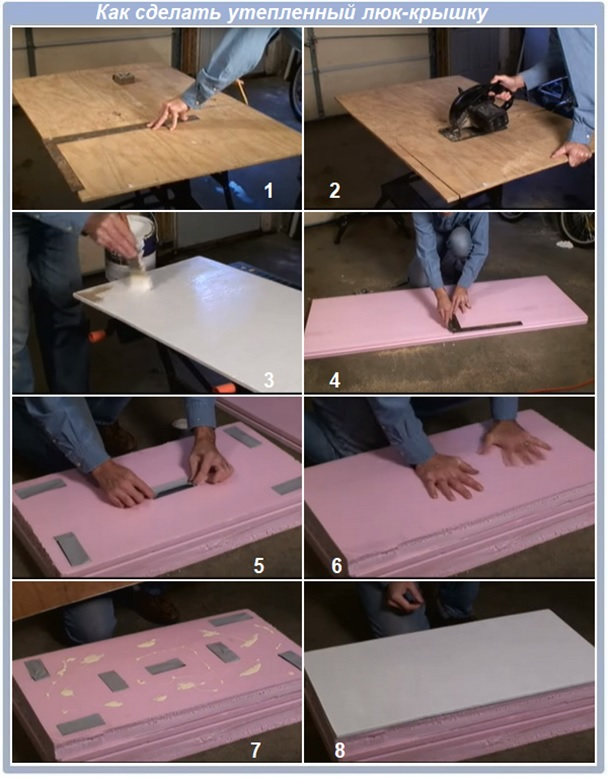 Как сделать утепленный люк-крышку на чердак