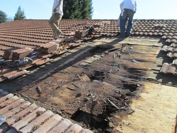 Локальный ремонт крыши при протечке