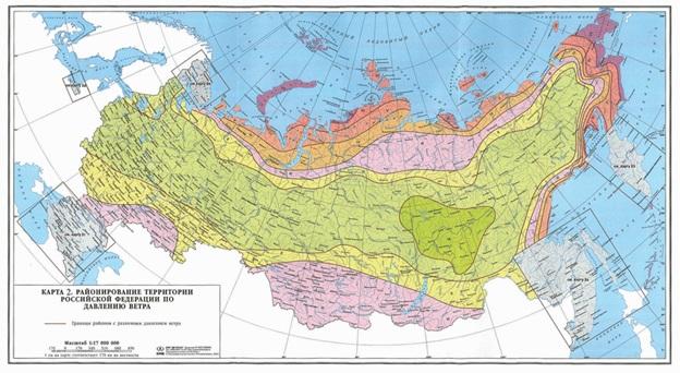 Карта ветровых районов