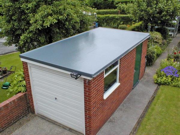 Уклон плоской крыши