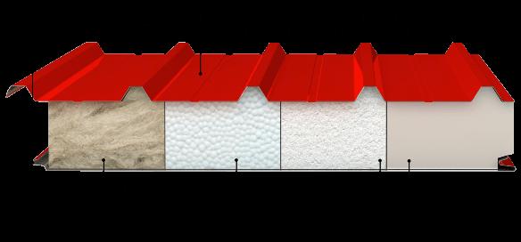 Виды утеплителя в кровельных панелях
