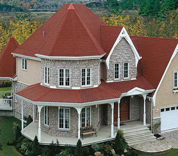 Шатровая крыша с большим количеством скатов
