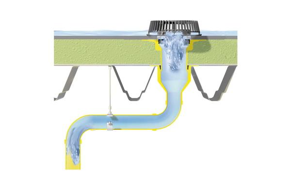 Сифонно-вакуумный водосток