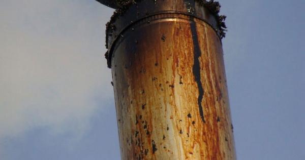 Конденсат на дымоходной трубе