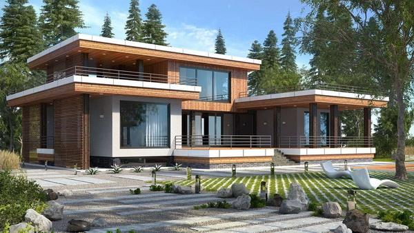 Загородные дома с плоской крышей